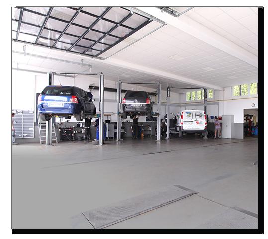 Modern ausgestattete Werkstatt